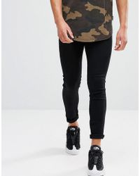 Good For Nothing - Muscle Fit Super Skinny Jeans In Black - Lyst