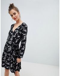 Blend She - Alicia Printed Wrap Dress - Lyst
