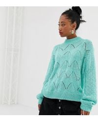 Reclaimed (vintage) - Inspired Oversized Sweater With Ladder Stitch And High Neck - Lyst