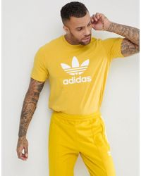 adidas Originals - Adicolor T-shirt With Trefoil Logo In Yellow Cw0706 - Lyst