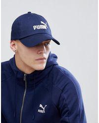 PUMA - Essentials Cap In Navy 05291918 - Lyst