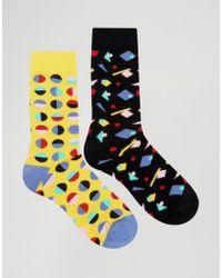 Urban Eccentric - Geo Socks In 2 Pack - Lyst