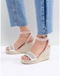 River Island - Laser Cut Wedge Sandals - Lyst