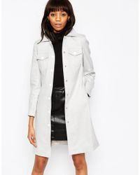 ASOS | Coat With 70's Pocket Detail | Lyst