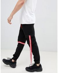 Liquor N Poker - jogger With Taping In Black - Lyst