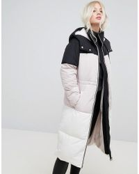 Miss Selfridge | Overszied Color Block Padded Jacket | Lyst