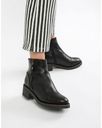 ALDO - Leather Flat Ankle Boots - Lyst