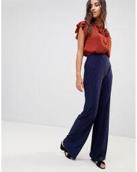 Love - Textured Wide Leg Pants - Lyst