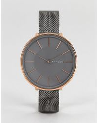 Skagen - Skw2689 Karolina Mesh Watch In Gunmetal 38mm - Lyst