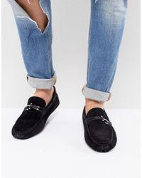 ALDO Roxbury Suede Loafers In Black