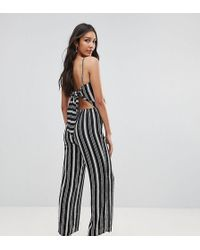 Oh My Love - Bow Back Wide Leg Culotte Jumpsuit - Lyst