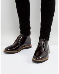 Farah - Smith Hi Shine Short Lace Up Boots - Lyst