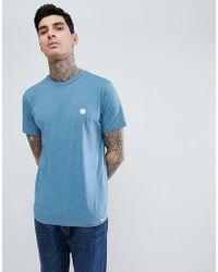Pretty Green - Mystic Marl Logo T-shirt In Blue - Lyst