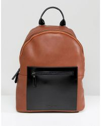 Smith & Canova - Leather Backpack Tan Contrast - Lyst