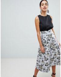 AX Paris - Prom Dress With Jacqaurd Skirt - Lyst