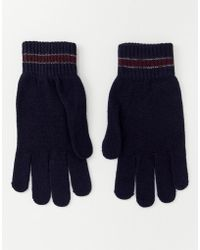 Ted Baker - Pairs Knitted Gloves With Stripe - Lyst