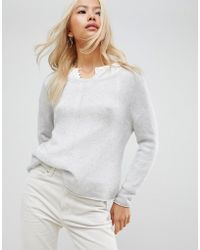 Subtle Luxury - Linked Out Front Raglan Seam Cashmere Jumper - Lyst