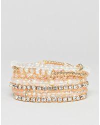 ALDO - Blush Multipack Friendship Bracelets - Lyst