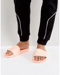 adidas Originals - Adilette Slides In Pink Ba7538 - Lyst