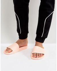 adidas Originals Adilette Slides In Pink Ba7538