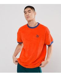 5f7d194ec29b Puma Vertical Stripe T-shirt In Red Exclusive At Asos in Red for Men ...