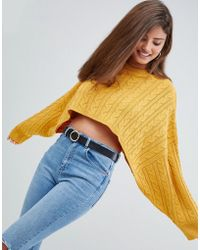AX Paris - Cable Knit Cropped Sweater - Lyst