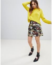 House of Holland - Camouflage Print Skirt - Lyst