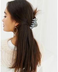 Pieces - Mira Embellished Hair Claw - Lyst