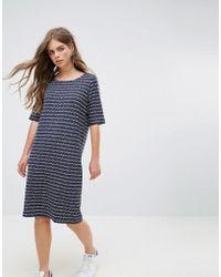 Pieces | Damara Stripe Jersey Dress | Lyst