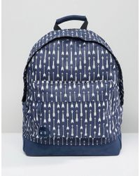 Mi-Pac - Backpack With Arrow Print - Lyst