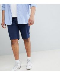 River Island - Big & Tall Chino Shorts In Navy - Lyst