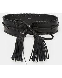 Becksöndergaard - Leather Waist Belt With Oversized Tassels - Lyst