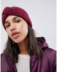 ASOS - Fluffy Knit Headband - Lyst