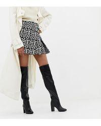 93439e265e3e Daisy Street Black Block Heel Over The Knee Boots in Black - Lyst