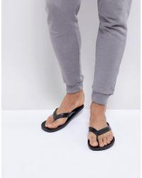 DIESEL - Flip Flops In Black - Lyst