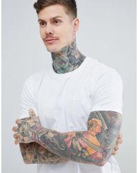 HUGO - Dero Embroidered Logo T-shirt In White - Lyst