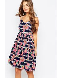 Sugarhill - Ugarhill Boutique Floral Zig Zag Summer Dress - Lyst
