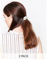 Nylon - 2 Pack Leaf Hair Slides - Lyst