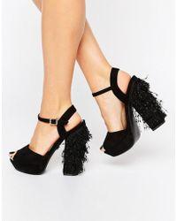 Daisy Street - Tassle Platform Heeled Sandals - Lyst