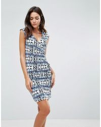 B.Young | Gather Side Printed Dress | Lyst