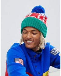 a87789b441eab Polo Ralph Lauren - Hi Tech Capsule Rafting Logo Bobble Beanie In Green  Multi - Lyst