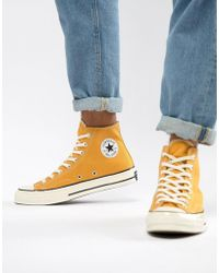 145e51e17344 Converse - Chuck Taylor All Star  70 Hi Sneakers In Yellow 162054c - Lyst
