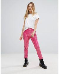Glamorous - Skinny Trousers In High Shine Vinyl - Lyst