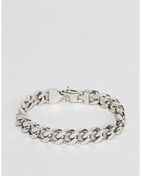 Fred Bennett - Silver Curb Chain Bracelet - Lyst