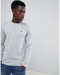 b293ad35 Abercrombie & Fitch - Pop Icon Logo Long Sleeve Top In Grey Marl - Lyst