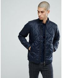 Barbour - Quilted Gabion Jacket In Navy - Lyst
