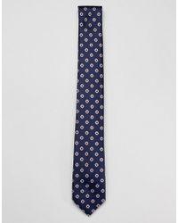Ben Sherman - Silk Geo Print Tie - Lyst