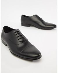 Office - Flounder Toe Cap Oxford Shoes In Black Leather - Lyst