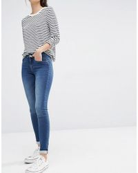 ONLY - Royal Reg Rise Skinny Jeans - Lyst