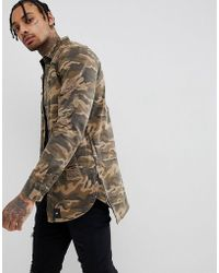 Sixth June - Muscle Distressed Shirt In Camo - Lyst